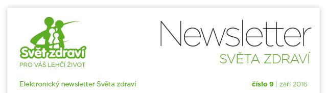 Elektronický newsletter - Svět zdraví - číslo 9 - září 2016